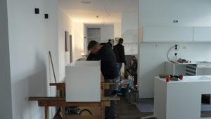 """Montage: MKG Praxis """"Gesichtspunkt"""", Schreinerei Haase & Co. Mainz"""